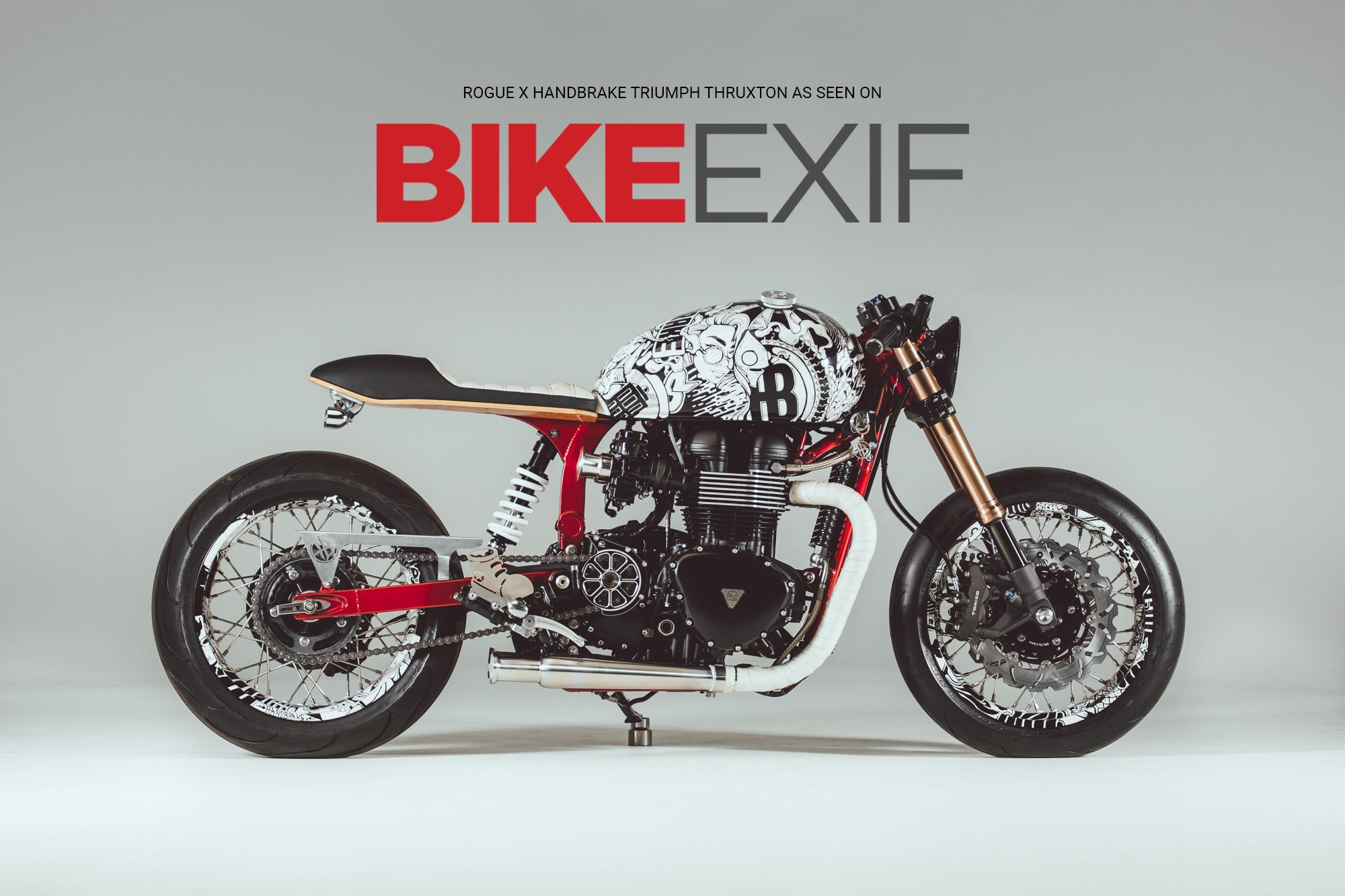 Rogue X HandBrake Triumph Thruxton features on Bike EXIF