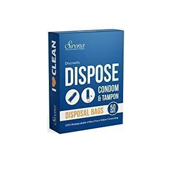 Sirona Disposal Bags For Discreet Disposal Of Tampons & Condoms - (50 Count)