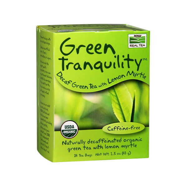 Now Foods, Green Tranquility Tea, Organic, 24 Tea Bags, 1.7 oz (48 g) - Bloom Concept