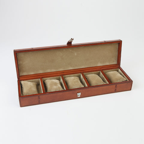 Leather Watch Box - Five Watches