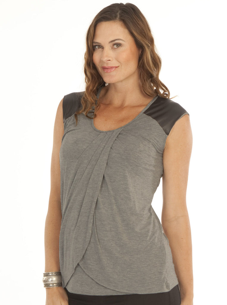 Petal Front Maternity and Breastfeeding Top - Angel Maternity Europe - 1