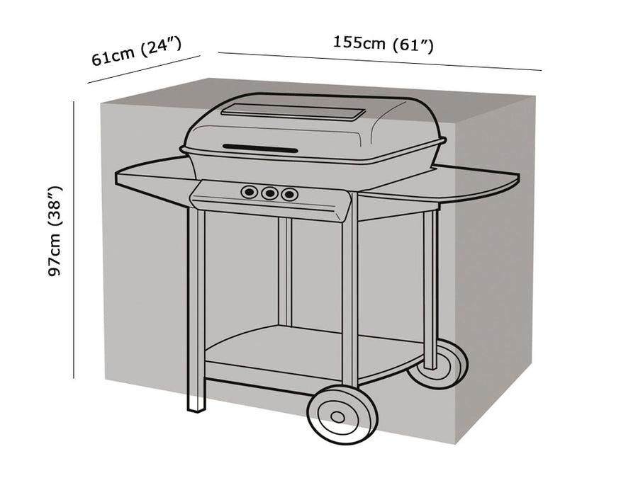 W1116 Large Rectangular Barbecue Cover Measurements