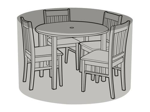 W1192 4 Seater Round Table & Chairs Cover - Worth Gardening by Garland
