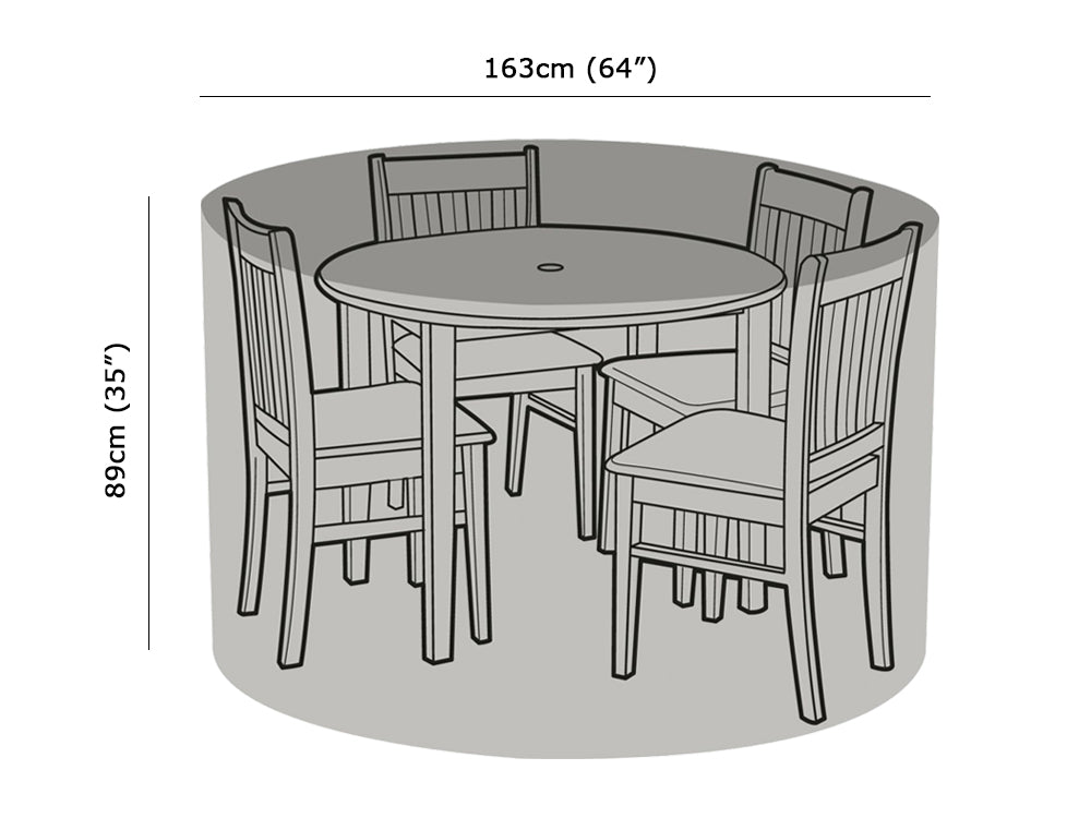 4 Seater Round Table & Chairs Cover