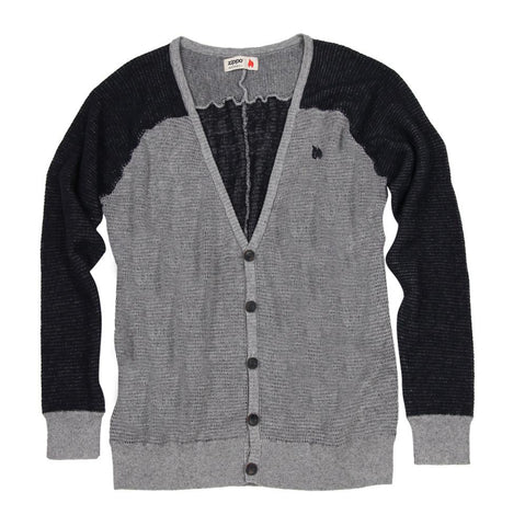 Grey and Black Sweater with Button
