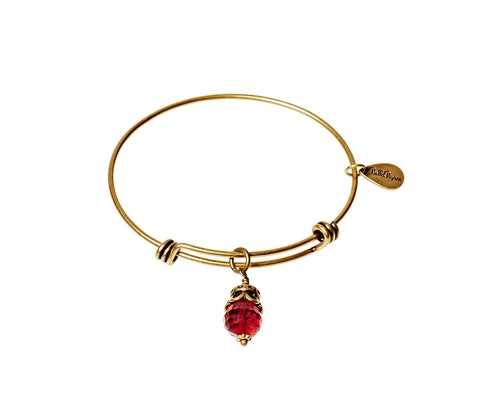 July Expandable Bangle Charm Bracelet in Gold - BellaRyann