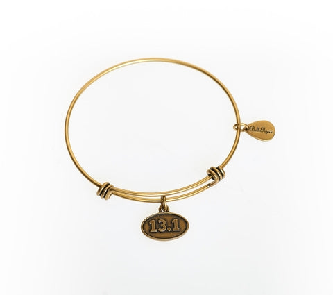 13.1 Expandable Bangle Charm Bracelet in Gold - BellaRyann