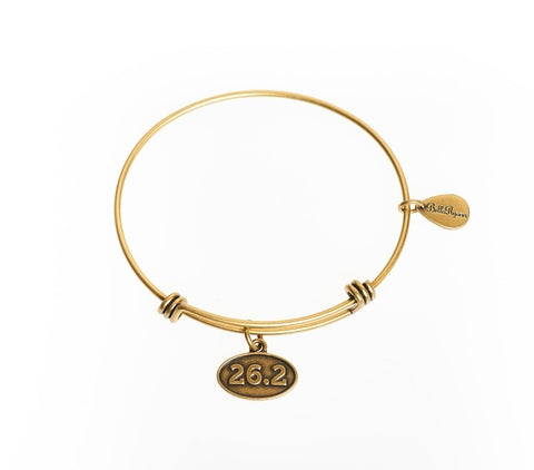 26.2 Expandable Bangle Charm Bracelet in Gold - BellaRyann
