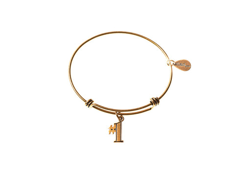 #1 Expandable Bangle Charm Bracelet in Gold - BellaRyann