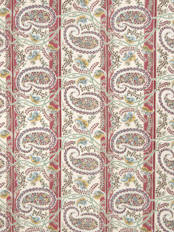 Charleston Preside Pomegranate Paisley Fabric