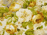 Covington Lismore Gardens Slub Empire Gold Floral Fabric