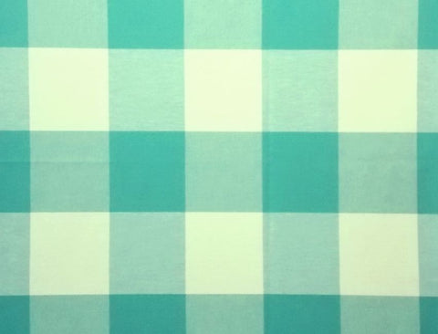 P Kaufmann Call Me 426 Teal Check / Plaid Fabric