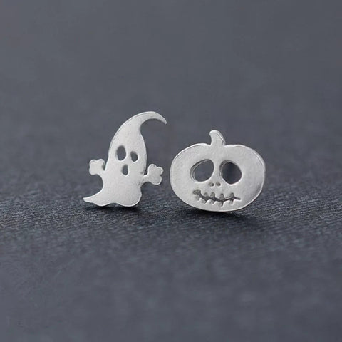 Ghost and Pumpkin Stud Earrings