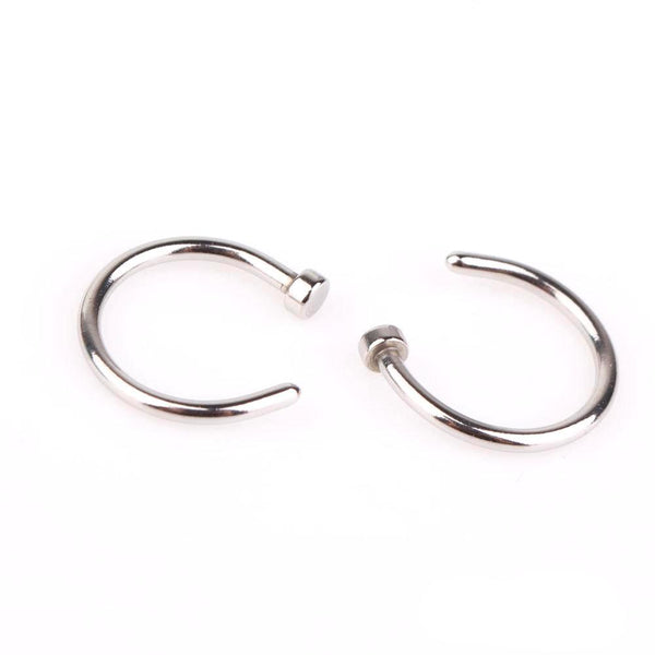 Open Nose Ring - Piercings Piercing Post-apocalyptic Nu-goth nose Metal Industrial Grunge Gothic Goth body jewelry body jewellery Black Accessory
