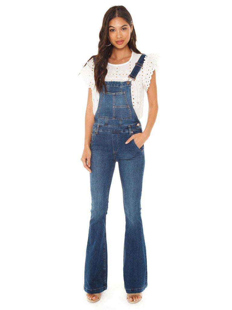 Women wearing a overalls rental from Free People called Weekend Breeze Set