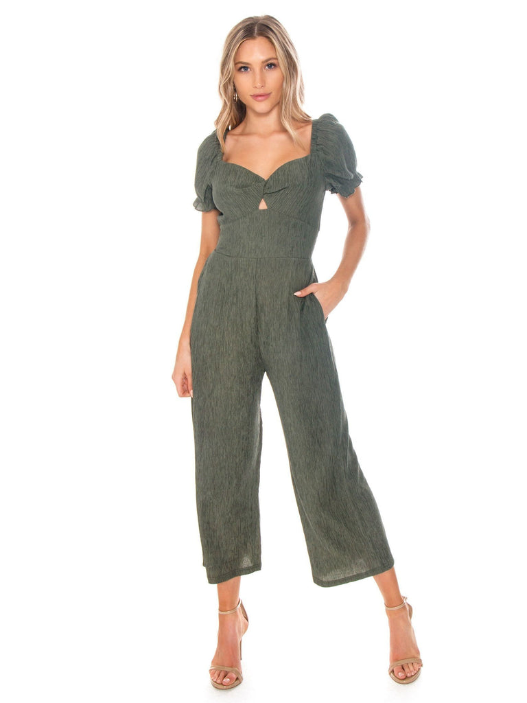 Woman wearing a jumpsuit rental from MINKPINK called Jessie Jumpsuit