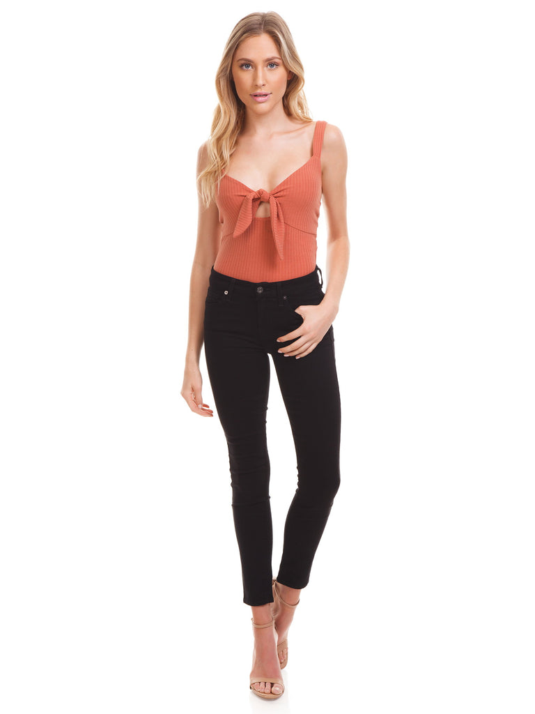 Women outfit in a bodysuit rental from MINKPINK called Lucia Off Shoulder Top