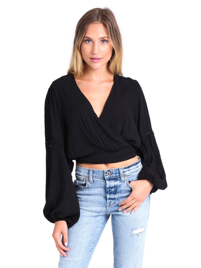 Woman wearing a top rental from Free People called Weekend Breeze Set