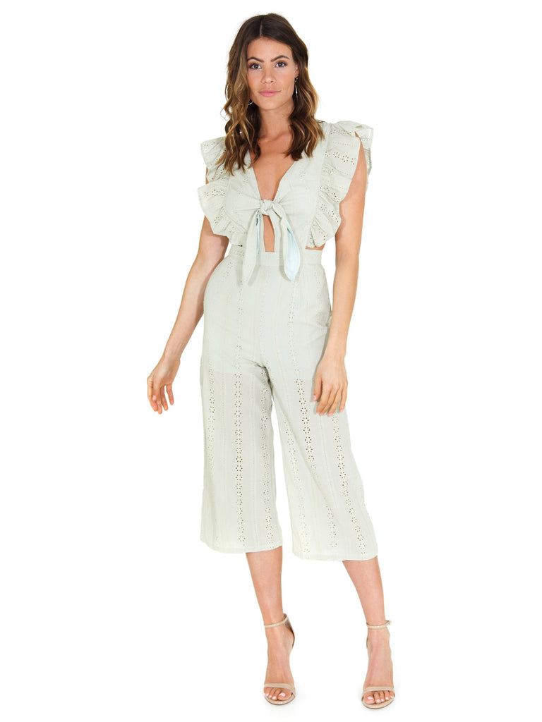 Girl outfit in a jumpsuit rental from FashionPass called Jessie Jumpsuit