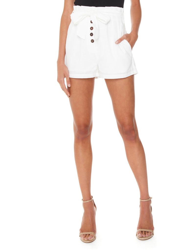 Women outfit in a shorts rental from MINKPINK called Lucia Off Shoulder Top