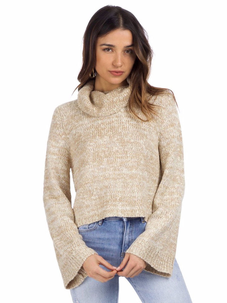 Women wearing a sweater rental from MINKPINK called Lucia Off Shoulder Top