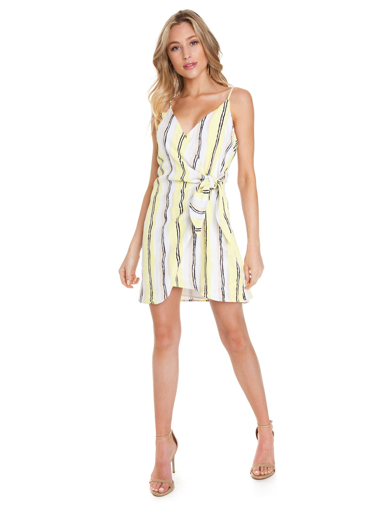 Girl outfit in a dress rental from Cupcakes and Cashmere called Brynn Deep Plunge Dress