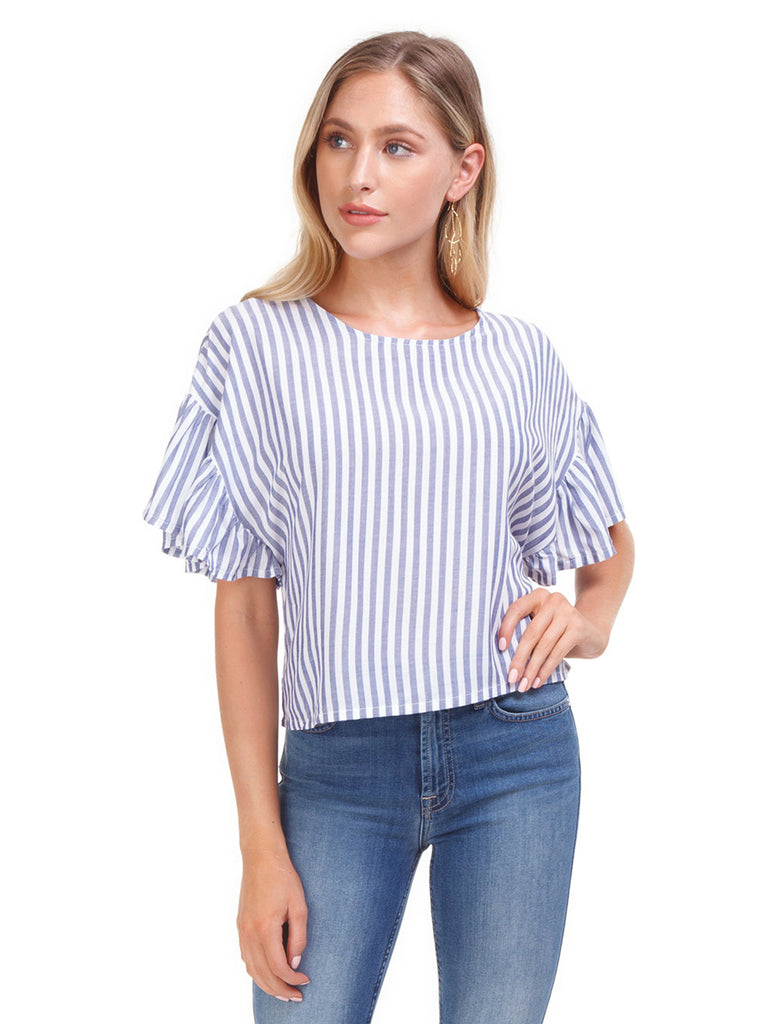 Woman wearing a top rental from MINKPINK called Lucia Off Shoulder Top