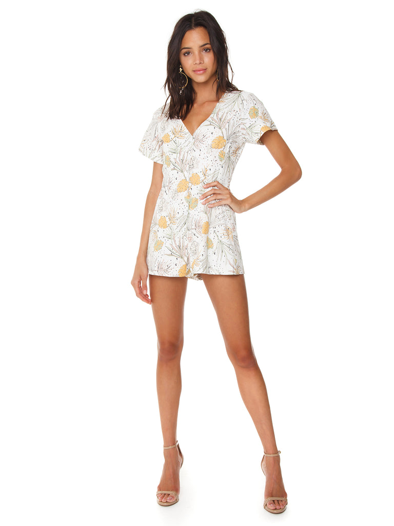 Girl outfit in a romper rental from MINKPINK called Lucia Off Shoulder Top