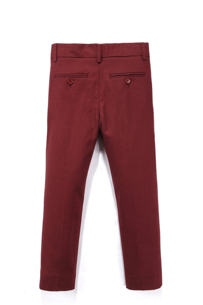 Arden Tailored Wool Pant in Brick