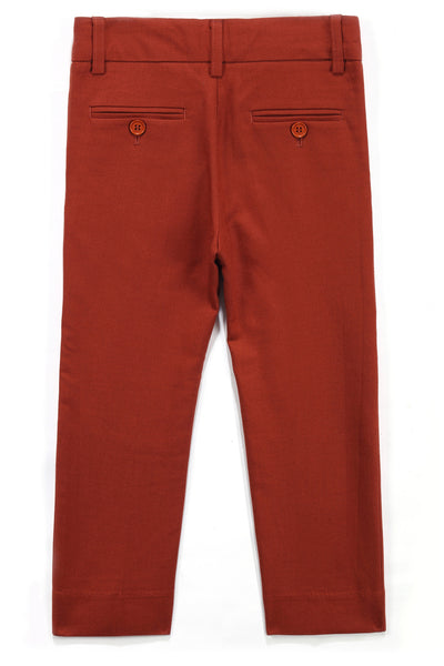 Arden Tailored Wool Pant in Redwood