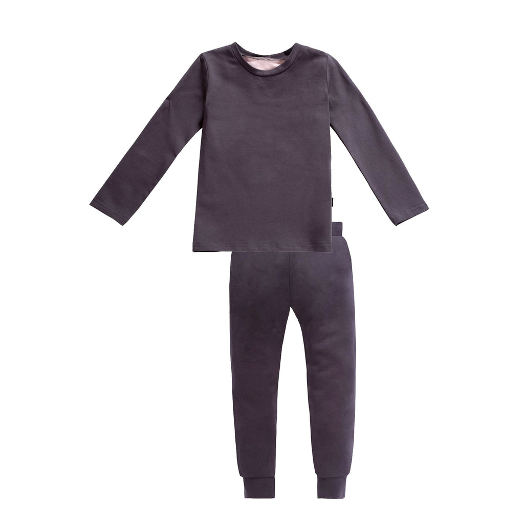 Hedley Pajamas in Grey/Pink Long Sleeve