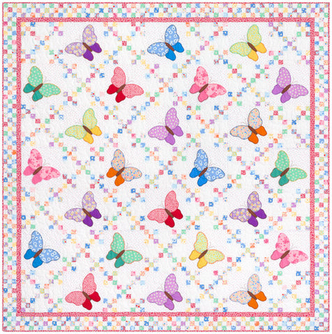 """Aunt Ella's Butterflies"" Quilt Kit Aunt Ella's Butterflies 72in x 72in by Darlene Zimmerman from Robert Kaufman"