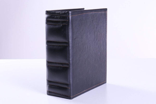 Black Leatherette Book Style Chess Box - Box - Chess-House