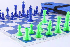 Club Chess Set Color Combo 2 - Green and Blue - Chess Set - Chess-House