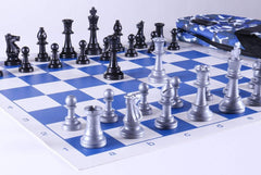 Club Chess Set Color Combo 4 - Blue Camo - Chess Set - Chess-House