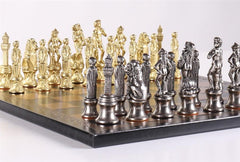 Florence Men On Leather Board - Set - Chess-House