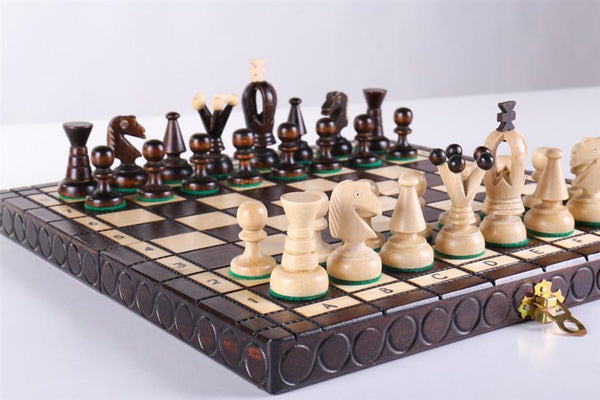 "KINGS Wooden Chess Set, 11 1/4"" Square - Chess Set - Chess-House"