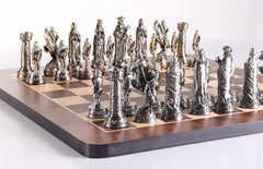 Pewter Medieval Chess Set - Chess Set - Chess-House