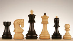 "Zagreb Chess Pieces, 3 3/4"" Ebonized - Piece - Chess-House"