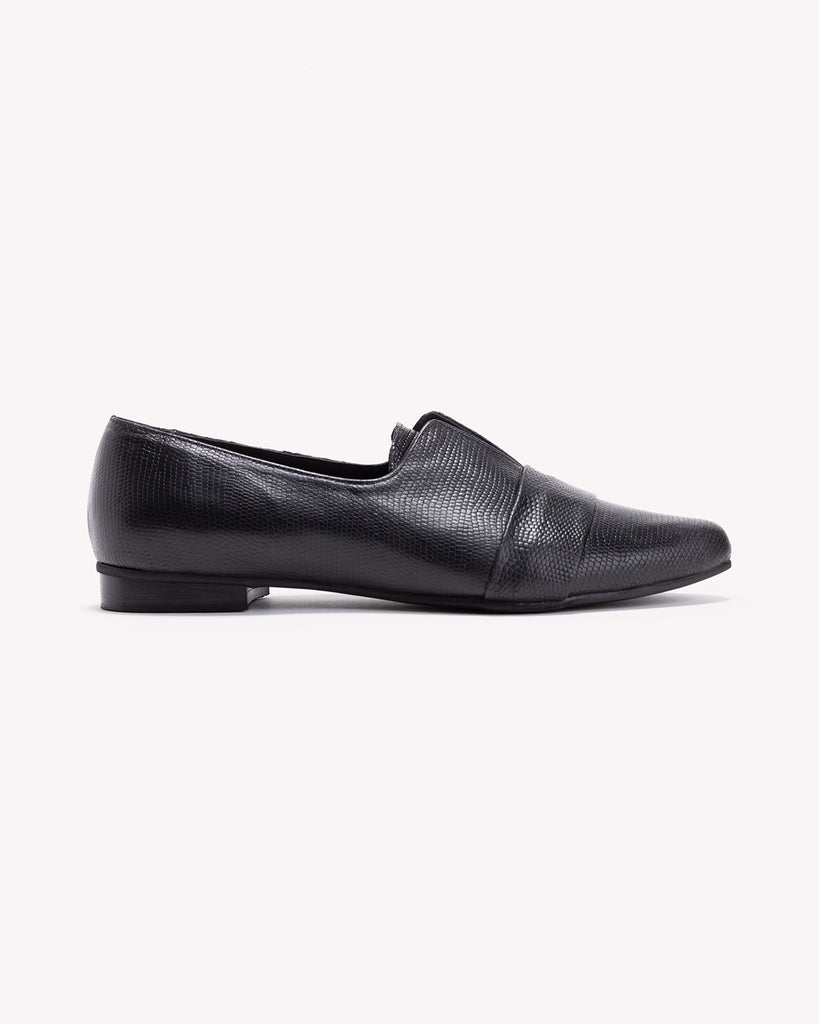 Nora - Black Leather Loafers