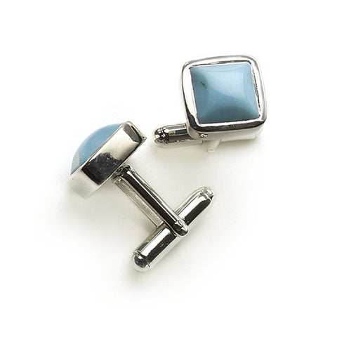 Rectangular And Silver Turquoise Cufflinks