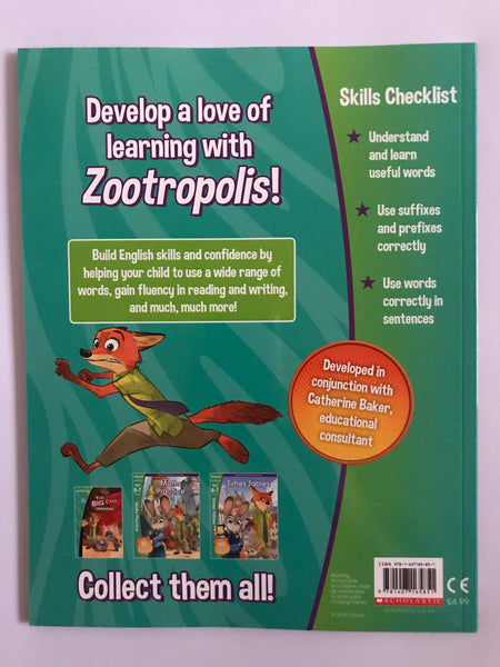 Disney Learning Zootropolis English Vocabulary Workbook KS1 Ages 6-7