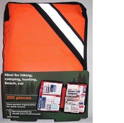 (1) 205-Piece Outdoor First Aid Kit, Great For Hiking, Camping, Marine, ETC.