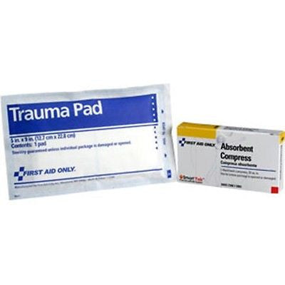"(12) Trauma Pads 5"" x 9"",  First Aid Only"