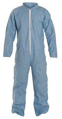 (1) DuPont Tempro® Coverall Blue Flame Retardant Disposable Hazmat Suits