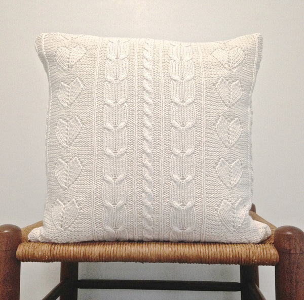 Sweater Pillow Set Off White Cables