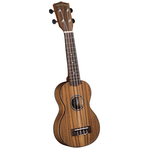 Diamond Head Flamed Acacia Soprano Ukulele Outfit