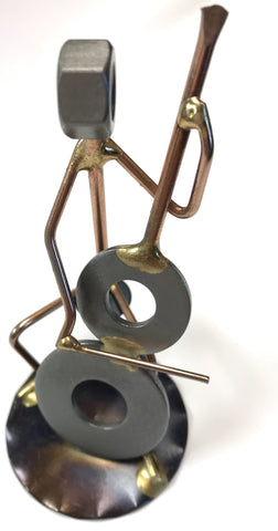 Cellist Metal Sculpture