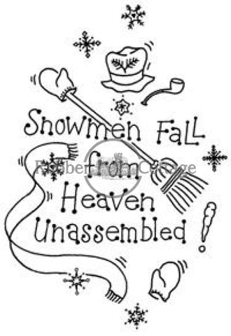 Snowmen Fall Rubber Stamp