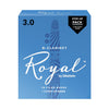 Rico Royal #3 Bb Clarinet - Step-Up 12-Pack